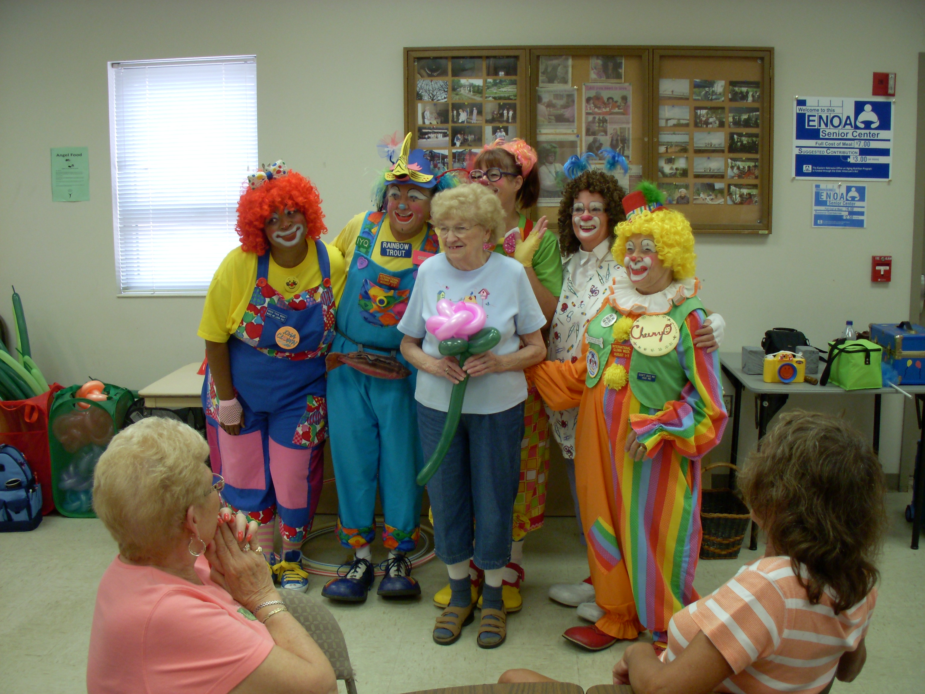 Photo of clowns and a lady